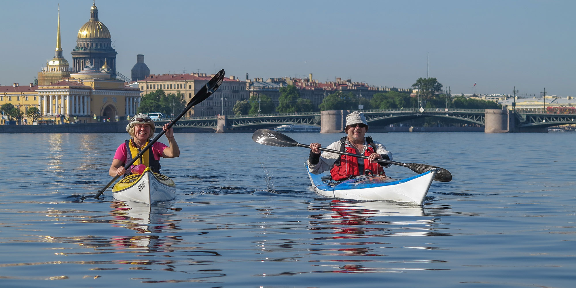 Paddling in St. Petersburg Russia